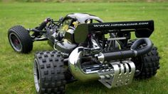 HPI Baja with tuned exhaust