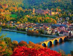 Old Bridge and Castle in Heidelberg, Germany. One of the most beautiful cities ever.