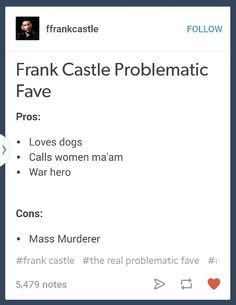 Frank castle problematic fav - such truths