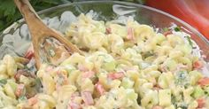 Une salade de macaronis vraiment succulente vous attend juste ici Macaroni Salad, Pasta Salad, Macaroni And Cheese, Potluck Appetizers, Cooking Recipes, Healthy Recipes, Potato Dishes, Cold Meals, Entrees