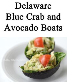 Blue Crab and Avocado Boats by @Rachel @ Bubbly Nature Creations