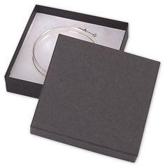 Black Jewelry Boxes, 3 1/2 x 3 1/2 x 7/8