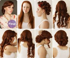 1930's Curly Updo Hairstyle Tutorial