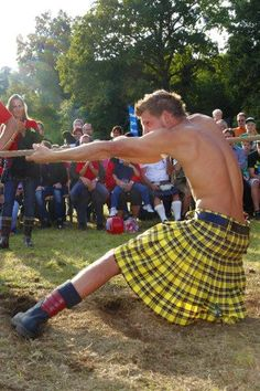 Macleod Kilt- pretty sure that the Macleod tartan is meant to be a warning from a distance lol ;)
