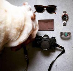 Last Pitti essentials.. #pitti #pu90 #florence #italy #essentials #dailycarry #accessories #shades #Boris #englishbulldog #bracelets #rolex #mensstyle #mensfashion #menswear #friends #love #minimal #design @kjoreproject