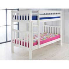 Airsprung Hampton Wooden Bunk Bed from with FREE delivery! Oak Bunk Beds, Bunk Beds Small Room, Solid Wood Bunk Beds, White Bunk Beds, Wooden Bunk Beds, Kids Bunk Beds, Small Rooms, Kids Rooms, Popular Woodworking