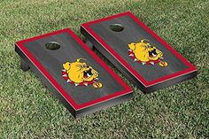 Ferris State Bulldogs Cornhole Game Set Onyx Stained Border Version -- To view further for this item, visit the image link.