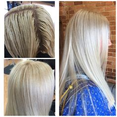 #blonding #blondehair #icy #platinum #hairpainting #pageboysalon #athenshairsalon #pageboysalonathens #uga #lacey