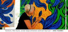 """Colours, like music, evoke deep emotions and can heal Us!"" - Ana Tzarev"