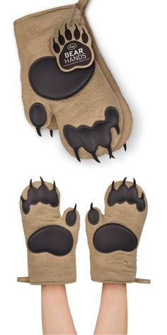 Bear Hands Oven Mitts.Comfy and Cute. http://geekandhip.com/product/fred-friends-bear-hands-oven-mitts-set-of-2/