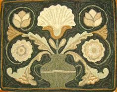 """I adore this rug hooked by Loretta Moore.    I found the photo on her blog, """"Hooked On The Lake."""""""
