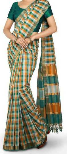 Multi Color Checks Mangalagiri Handloom cotton by UppadaPattu