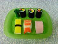 Felt Food Sushi Pattern Tutorial Free                                                                                                                                                     More