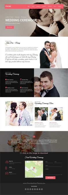 Probe is clean and modern design multipurpose responsive #Joomla template for #wedding invitations website with 30 niche homepage layouts and page builder to download click on image.