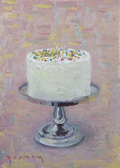 Her vision of heaven involved copious amounts of buttercream frosting. Paul and Jordan Ferney Image of Sprinkles, Giclee Print, Food Painting, Painted Cakes, Cake Shop, Piece Of Cakes, Cake Art, Let Them Eat Cake, Painting Inspiration, Food Art, Art Lessons