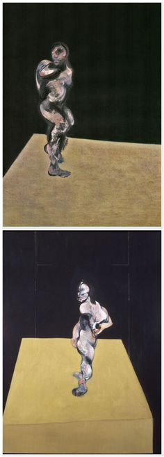 FRANCIS BACON These two paintings appear as distinct, but have the same title for both. Figure turning, 1962.
