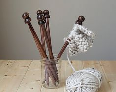 Check out our wooden knitting needles selection for the very best in unique or custom, handmade pieces from our shops. Wooden Knitting Needles, Handmade Wooden, Incense, Blog, Etsy, Blogging