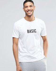 ASOS BRAND ASOS Loungewear T-Shirt With Basic Print
