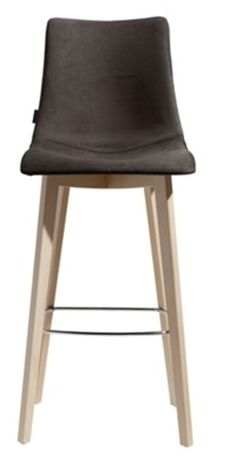 Sledge Tabouret de bar design tissu et bois naturel - Sledge