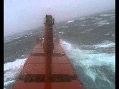 "Ship ""RAGUVA"" in very heavy storm"