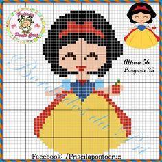 Imagem relacionada Kawaii Cross Stitch, Cross Stitch Baby, Cross Stitch Charts, Cross Stitch Patterns, Beaded Cross Stitch, Cross Stitch Embroidery, Pixel Art, Pixel Crochet Blanket, Hama Disney
