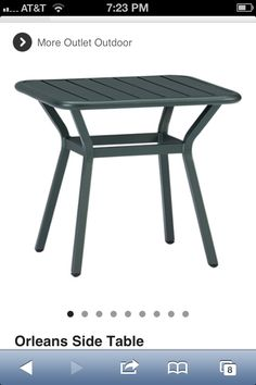 Deck side table
