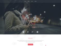 PH is  a free website template best suitable for vCards or portfolios. Free PSD designed by M-Elgendy.