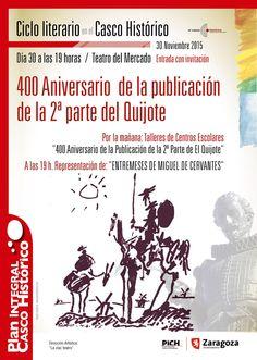 Ciclo Literario en el Casco Histórico Zaragoza.- Plan Integral del Casco Histórico
