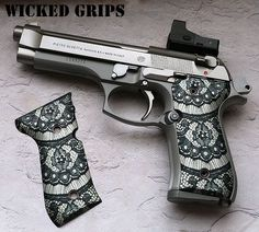 "BERETTA 92FS ALUMINUM ""BLACK LACE"". Probably order this when I get my beretta. Make it look pretty :)"