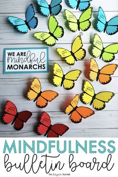 Mindfulness Bulletin Board | Butterfly Bulletin Board | Mindfulness Activity