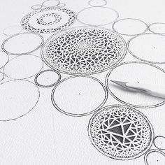 Paper Circles with Cut Triangles