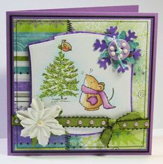 Snowy Mouse by thecircleguru - Cards and Paper Crafts at Splitcoaststampers