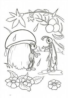 "Színezés ""mesék Suteeva"" letöltés és a nyomtatási ingyen Mandala Coloring Pages, Coloring Book Pages, Pencil Art Drawings, Easy Drawings, Mushroom Drawing, Sequencing Pictures, Story Drawing, Color Crayons, Bug Crafts"