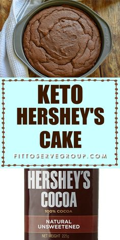 Keto Hershey& Cake-Stop missing the classic chocolate cake on the back of the box of Hershey& cocoa while doing keto. This is the low carb, keto version of America& favorite cake. Hershey Cake, Hershey Chocolate Cakes, Low Carb Chocolate Cake, Chocolate Frosting, Chocolate Chocolate, Chocolate Recipes, Low Carb Cake, Low Carb Sweets, Desserts Keto
