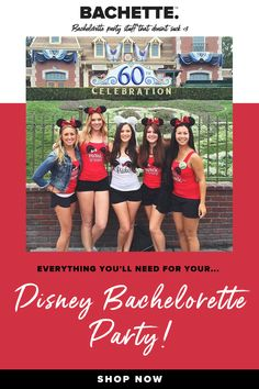 These cute and whimsical bachelorette party shirts are just the right thing when you need something unique & cute for your perfect day at the happiest place on earth! Disney Bachelorette Parties, Bachelorette Shirts, Red Party, Cute Mouse, For Your Party, White Tank, Whimsical, Earth, Bride