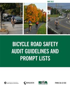 Document Cover Image - Bicycle Road Safety Audit Guidelines and Prompt Lists