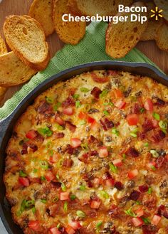 It's not a party without the dip! Football fans are sure to love this easy, cheesy snack. Bring on the bacon! Add beef, sour cream and cheese and you have a crowd-pleasing appetizer. Check out more Walmart Game Time recipes & tips.