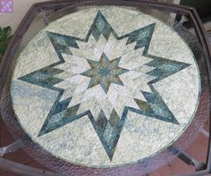 Lone Star Quilted Circular Table Cover 35.25""
