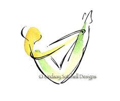Pilates art print Rocker by LindsaySatchell on Etsy