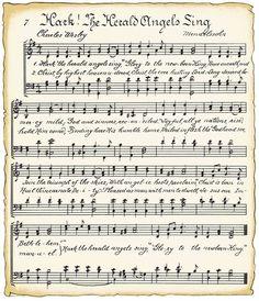 VintageFeedsacks: Vintage Christmas Music Song Sheets - Printable  Free!