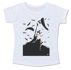 cisne negro balet balé dança penas plumas camiseta
