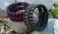 Black Widow Double Wide Paracord Bracelet www.getcorded.com