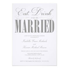 >>>Cheap Price Guarantee          	5 x 7 Eat, Drink & Be Married | Rehearsal Dinner Announcements           	5 x 7 Eat, Drink & Be Married | Rehearsal Dinner Announcements online after you search a lot for where to buyDeals          	5 x 7 Eat, Drink & Be Married | Rehearsal Dinner...Cleck link More >>> http://www.zazzle.com/5_x_7_eat_drink_be_married_rehearsal_dinner_invitation-161123703919445507?rf=238627982471231924&zbar=1&tc=terrest