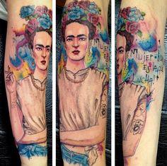 Tatouage aquarelle par le tatoueur brésilien, Victor Octaviano