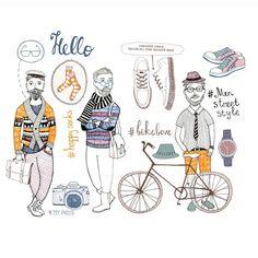 Men Street style. Fashion for men