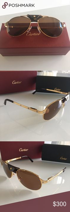 Cartier sunglasses NEW CARTIER SUNGLASSES WITH CARTIER (UV Protection) LENSES. PLEASE SEE THE PICTURES.  BEAUTIFUL DESIGN AND A REAL SIGN OF THE TIMES. REALLY NICE TO GIVE AS A GIFT. CARTIER HARD CASE INCLUDED. I DON'T HAVE ANY BOOKS OF AUTHENTICITY, JUST GLASSES AND CASE, YOU BUY WHAT YOU SEE, NO RETURNS. Cartier Accessories Sunglasses
