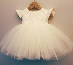 Beautiful lace and tulle christening dress https://www.etsy.com/ie/listing/467701632/ellie-christening-gown-lace-baptism