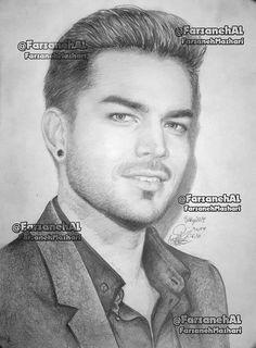 dear @adamlambert.My new #fanart #DrawingPencil.hope u like it,Luv u #persianglamberts#AdamLambert#Glamberts