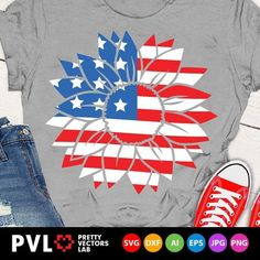 Patriotic Sunflower Svg of July Svg American Flag Svg Fourth Of July Shirts, 4th Of July, Handmade Art, Memorial Day, Art Images, American Flag, Embroidery Designs, Paper Crafts, Clip Art