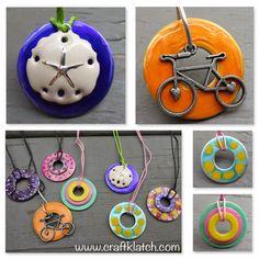 Craft Klatch: DIY Nail Polish Washer Necklaces - Hardware Store Jewelry